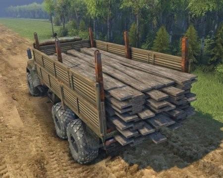 Скачать мод грузовик КрАЗ-260+аддоны КамАЗ для Spintires 2014, 2015