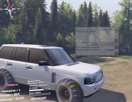 Скачать мод Range Rover Sport для Spintires 2014