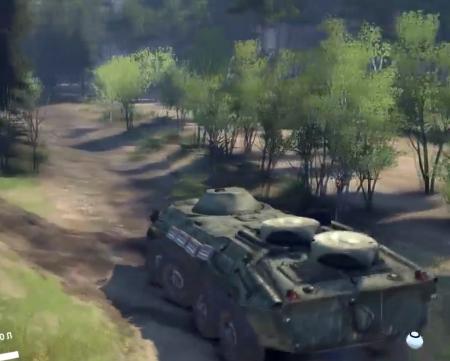 """Скачать мод """"БТР-70 1.0"""" для Spin tires 2014"""