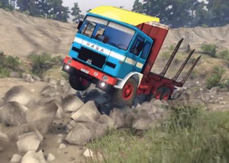 Скачать мод грузовик RÁBA-MAN 832 для Spintires 2014