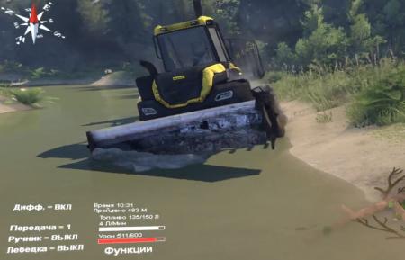 "Скачать мод трактор ""Forwarder Ponsse Buffalo 8x8 AT"" для Spintires 2014"