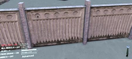 Мод Бетонный забор версия 1 для SpinTires 2014