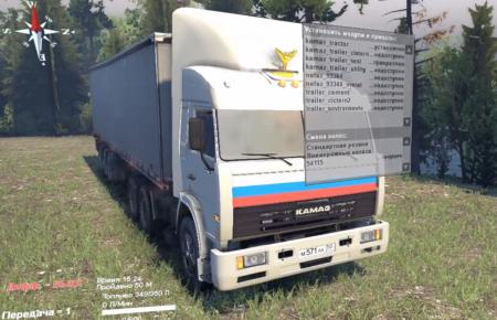 Скачать мод грузовик КамАЗ-54115 v1.0 для Spintires 2014