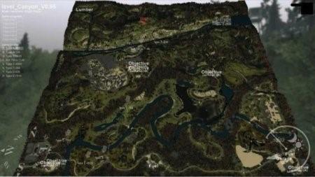 """Карта """"Каньон"""" для SpinTires 2014"""