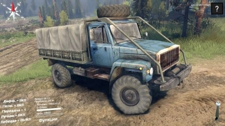 Скачать мод грузовик ГАЗ 3308 Дизель v1.0 для Spintires 2014