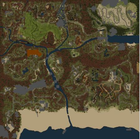 Карта Sandy Coast для SpinTires