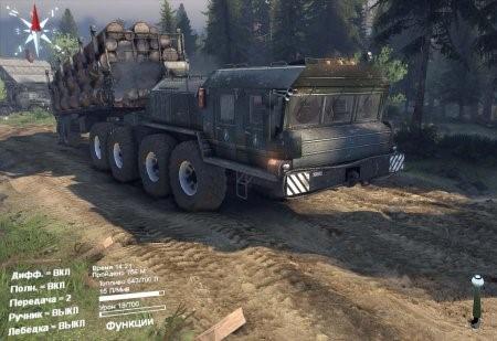 Скачать мод грузовик КЗКТ-7428 «Русич» v3.0 для Spintires 2014
