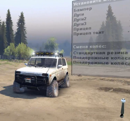 """Скачать мод """"Ваз 2121 Нива v1.3"""" для Spintires 2014"""