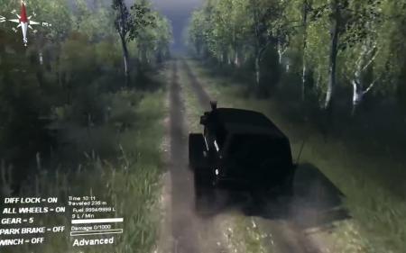 "Карта ""Берёзовый лес"" для SpinTires 2.1.2015"