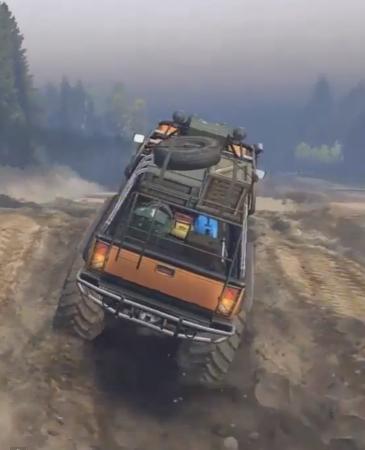Скачать мод Hummer H2 sut 6x6 для Spintires 2014