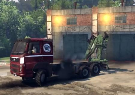 Скачать мод грузовик Volvo FM для Spintires 2014