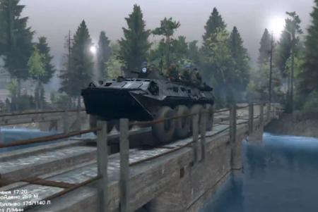 Скачать мод БТР-80 (Газ 5903) для SpinTires 2014