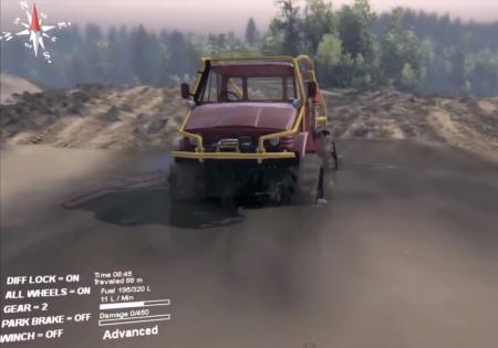 Скачать мод грузовик Mercedes Unimog SWB 1.0 для Spintires 2014