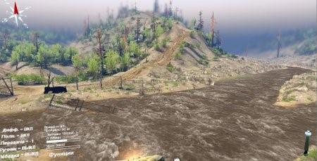 """Карта """"Black water High Desert"""" для Spintires 4.2.2015"""