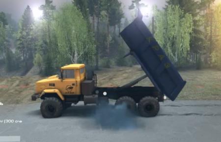 Скачать мод грузовик КрАЗ 6322 v2 для Spintires 2015