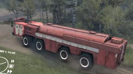 Скачать мод грузовик МАЗ 543 (АА-60) для Spintires 2014