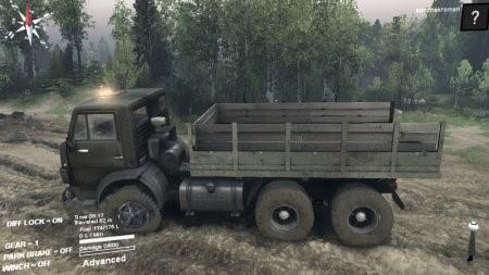 Скачать мод грузовик Камаз 5511 v1.0 для Spintires 2015