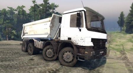 Скачать мод грузовик Mercedes Actros 8x8 v1.0 Spintires 2014