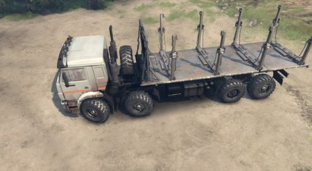 Скачать мод грузовик Камаз 44108 мустанг для Spintires v. 03.03.16