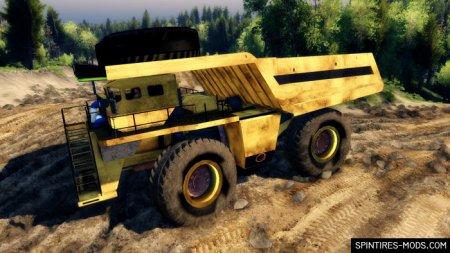Скачать мод грузовик Карьерный самосвал GODZILLA – SPIN TIRES 2014