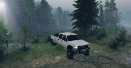 Скачать мод 95 GMC CREW CAB DUALLY V1.0 – SPIN TIRES 2014