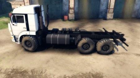 Скачать мод грузовик KAMAZ 52114 – SPIN TIRES 2014