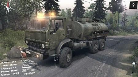 Скачать мод грузовик Камаз 43101 Бензовоз для Spintires 13.04.2015