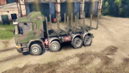 Скачать мод грузовик SCANIA TIMBER – SPIN TIRES 2014