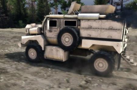 Скачать мод грузовик COUGAR & DESTROYED COUGAR – SPIN TIRES 2014