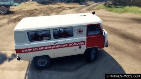 Скачать мод UAZ 3962 – SPIN TIRES 2014