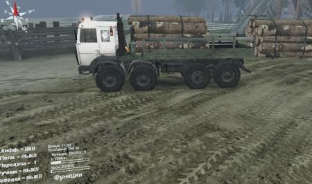 Скачать мод грузовик МЗКТ-6527 для Spintires 13.04.15
