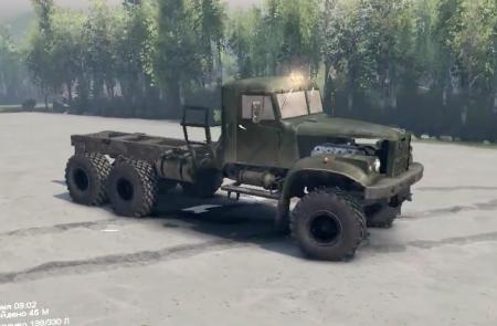 Скачать мод грузовик Kraz 255 Final для Spintires