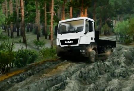 Скачать мод грузовик MAN TGS Little Flatbed для Spintires 13.04.15