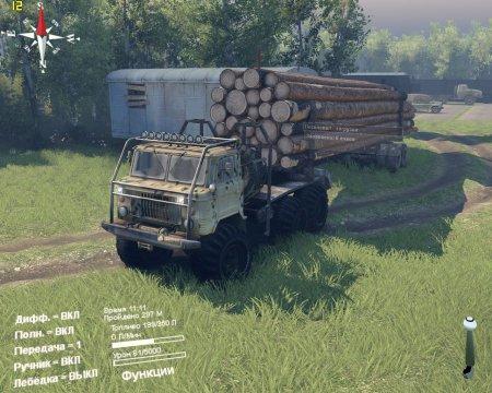 Скачать мод грузовик Газ 34 лесовоз для Spintires 13.04.2015