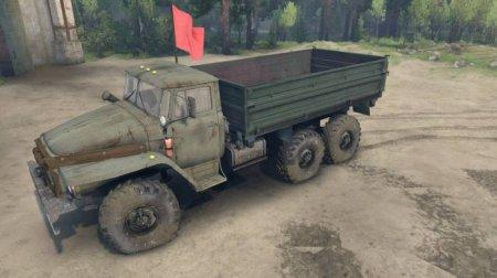 Скачать мод грузовик Урал-4320-01 Доработанный для Spintires 13.04.15