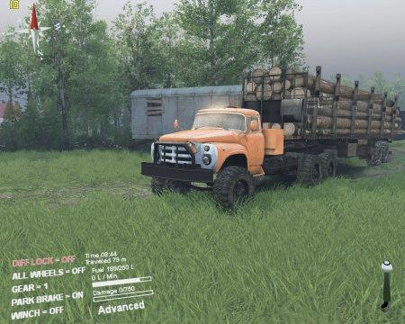 Скачать мод грузовик ЗИЛ 133 ГЯ Тягач для Spintires 13.04.15