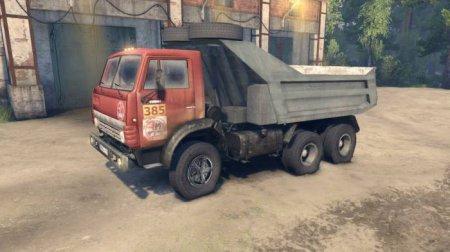 Скачать мод грузовик КамАЗ-5511 для Spintires 13.04.15