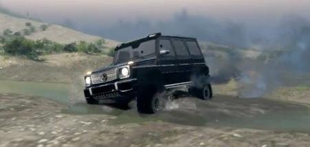 Скачать мод Mercedes-Benz G 65AMG для Spintires 13.04.15