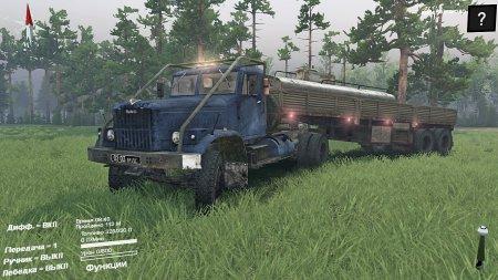 Скачать мод грузовик КрАЗ-258 4x2 для Spintires 2015