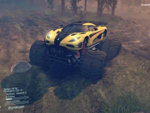 Скачать мод Koenigsegg-one1 Monster truck для Spintires 2016