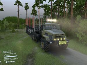 Скачать мод грузовик КрАЗ-6322 для Spintires v. 03.03.16