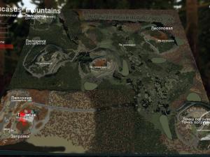 Скачать мод карта «Кавказские горы» для Spintires v. 03.03.16