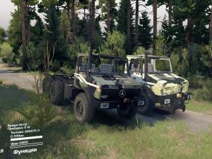 Скачать мод грузовик Mercedes Unimog 2450L для Spintires v. 03.03.16