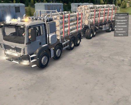 Скачать мод грузовик MAN TGS-41.480 для Spintires v. 03.03.16