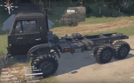 Скачать мод грузовик Камаз-4310 «Military» для Spintires v. 03.03.16