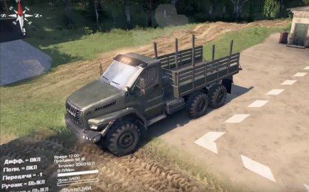 Скачать мод грузовик Урал Next для Spintires v. 03.03.16