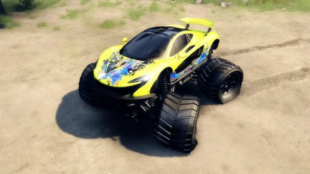 Скачать мод MCLAREN P1 MONSTER TRUCK – SPIN TIRES 2014