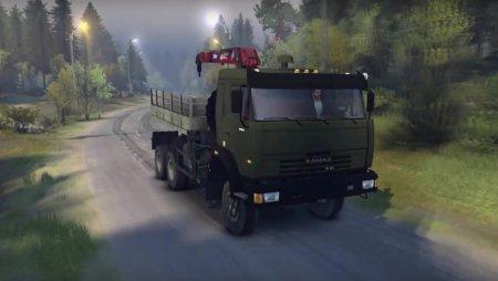 Скачать мод грузовик Kamaz-44108 – Spintires 2014