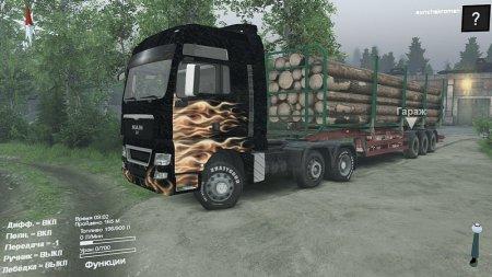 Скачать мод грузовик MAN TGX 6x4 для Spintires 13.04.2015