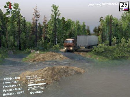 Скачать мод карта «Лесозаводск» v2.0 для Spintires v. 03.03.16